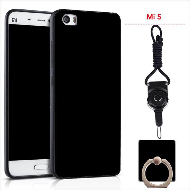 Untuk Xiaomi MI 5 Silicon Soft Ruber Case (Hitam)