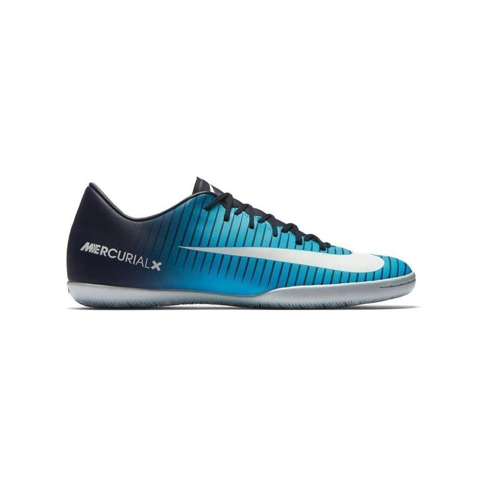 3fc38573cb85a Nike MERCURIALX VICTORY VI IC-OBSIDIAN WHITE-GAMMA BLUE Sport Shoe Grade 3