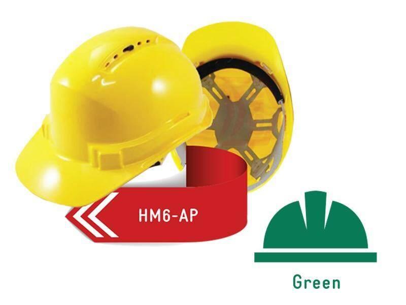 ISAF Industrial Safety Helmet c/w Pinlock, Sweatband & Chinstrap - Green