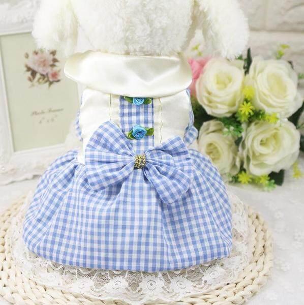 Vật Nuôi Ren Váy Con Chó Cô Gái Ăn Mặc, Váy Hoa Công Chúa Cotton Mùa Hè Cho Bé Gái Cún Con