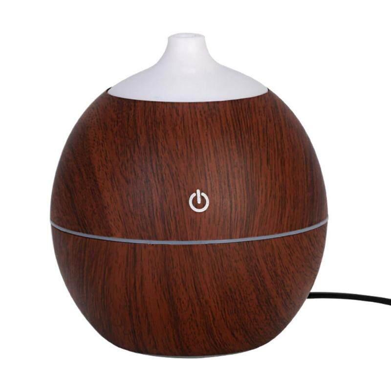 Bảng giá (Giao hàng miễn phí cho cả ba chiếc đến Hà Nội)Round Shape Intelligent Induction 7 Color LED USB Wood Grain Ultrasonic Air Humidifier Aromatherapy Diffuser