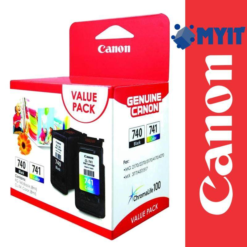 Canon Original PG-740 Black CL-741 Color Combo Value Pack for MG2170 MG2270 MG3170 MG3570 MG3670 MG4170 MG4270 MX377 MX397 MX437 MX457 MX477 MX517 MX527 MX537 PG740 CL741