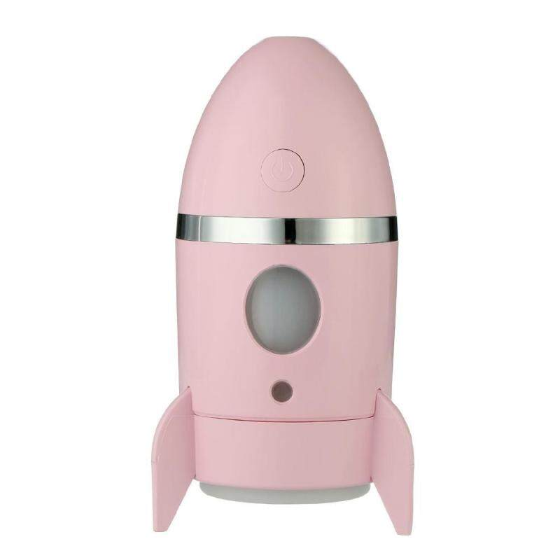 leegoal Mini USB Rocket Humidifier Office Car Humidifier Desktop Luminous Humidifier(Light Pink) Singapore