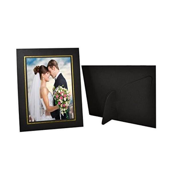 Golden State Paket Seni dari 25, Kardus Foto Rangka Sandaran Papan untuk 5X7 Foto, Hitam/dari Amerika Serikat
