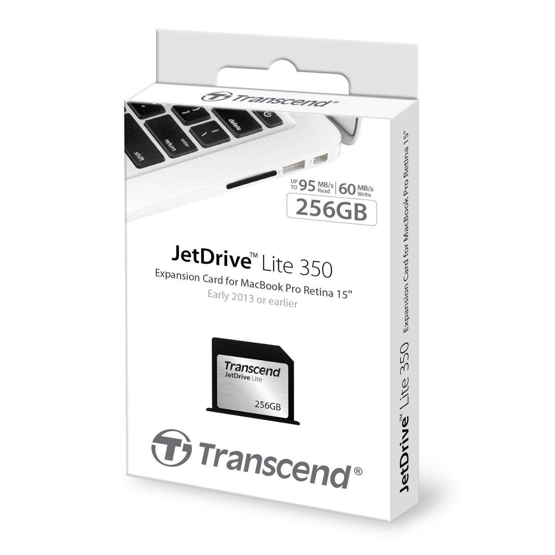 Transcend JetDrive Lite 350 64GB (Memory Card) for MacBook Pro Retina, 15 Inch, Mid 2012 ~ Early 2013 (Jet Drive Lite 350)