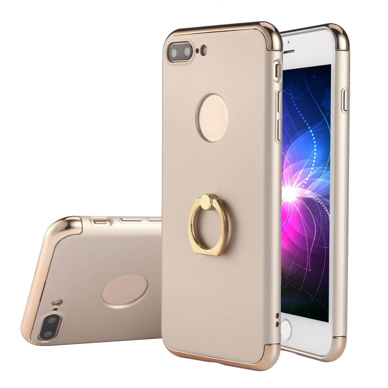 weishi IPhone Case, 3 in 1 Ultra Thin Hard 360 Degree Ring Anti-Scratch