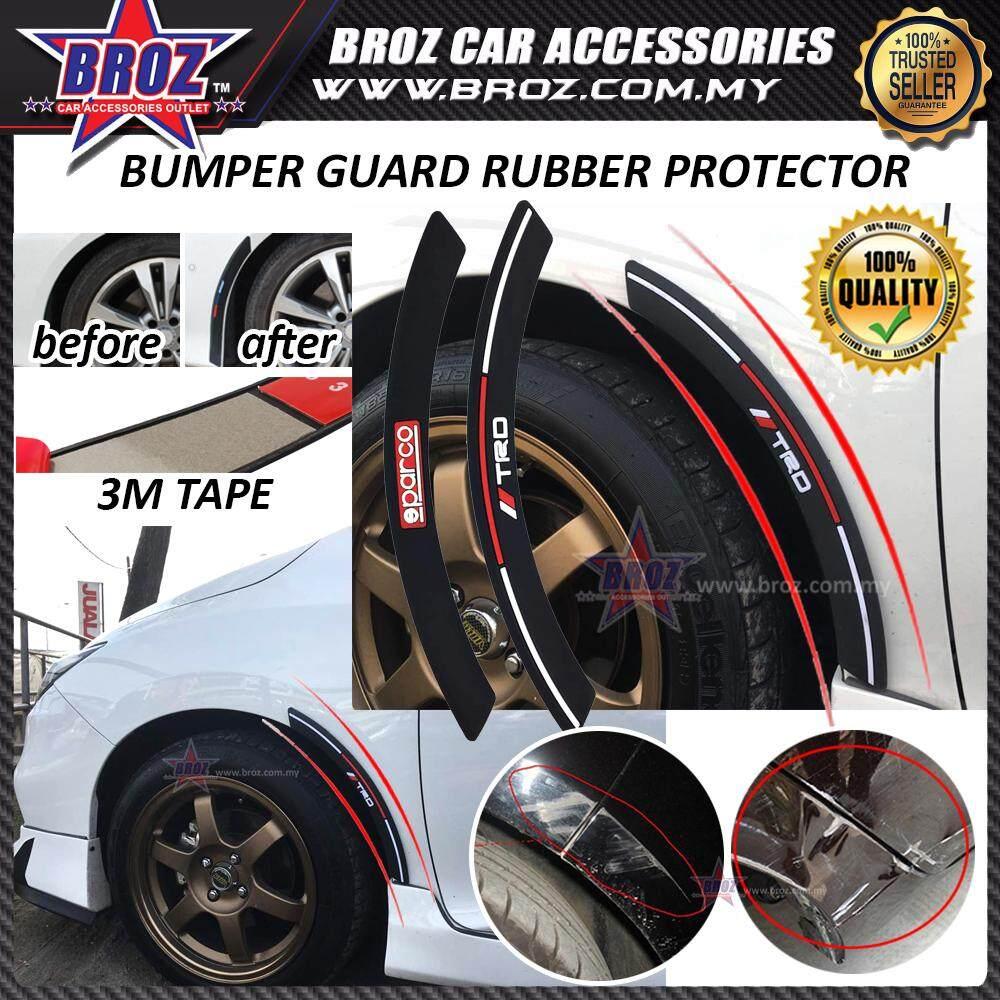 TRD Bumper Guard Rubber Protector 3M Tape DIY Anti Collision (2pcs/set)