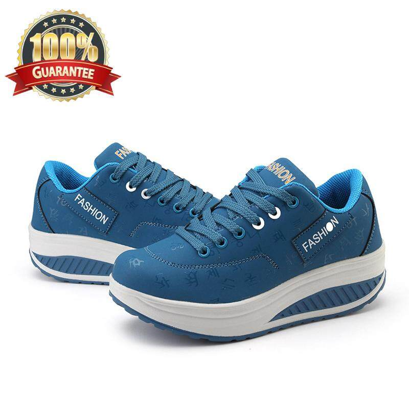 Outlet Women Walking Shoes New heightening rocking shoes Korean version of  the extra PLUS size breathable 68facbf96