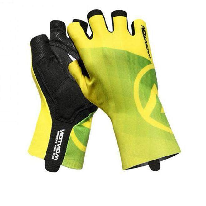 MONTON  SHORT FINGER PADDED CYCLING GLOVES LIFESTYLE MIRAGGIO YELLOW