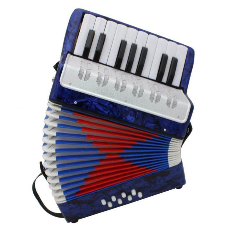 1pc Dark Blue 17 Key Professional Mini Accordion Educational Musical Instrument Cadence Band Malaysia