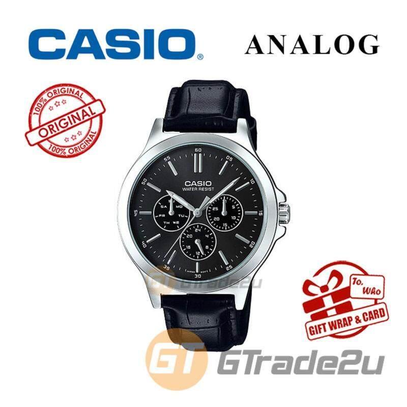 CASIO MEN MTP-V300L-1AV Analog Watch - Multi-Hand Water Resistant Malaysia