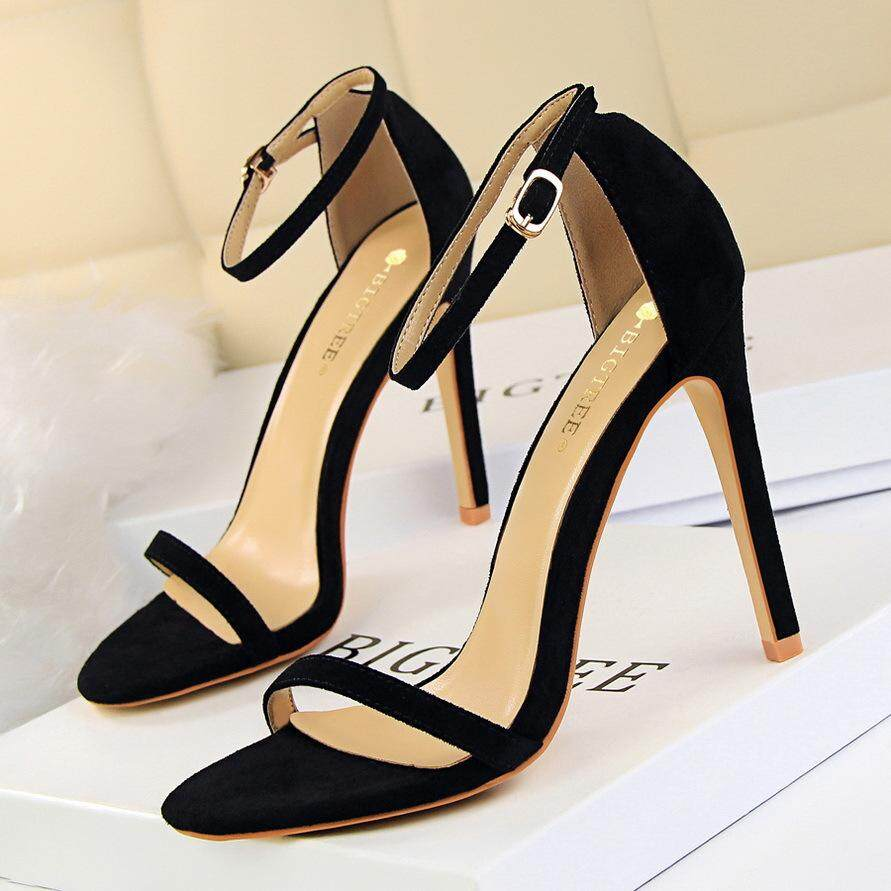 bdd790e74bd84 2019 New ✅Fashion High Heels Sandals Women High-Heeled Shoes Suede Woman  Pumps Ankle
