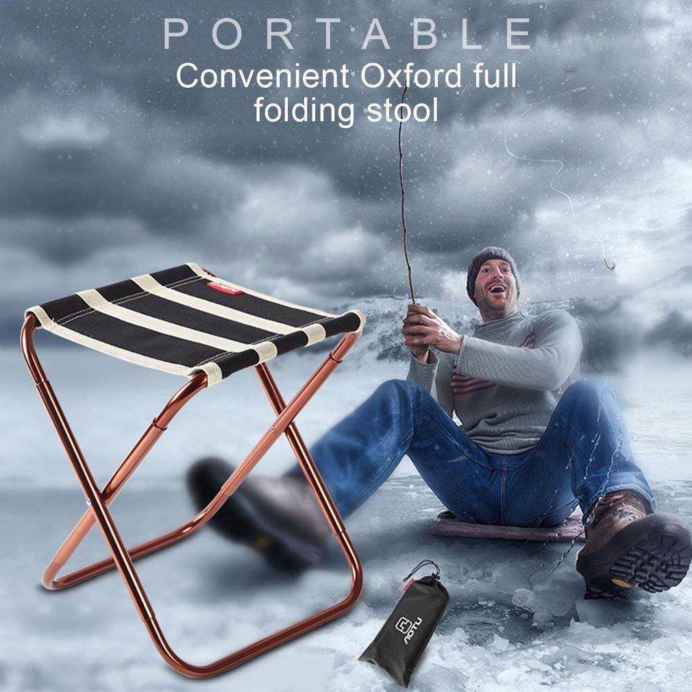 GOOD Portable Outdoor Folding Fishing Chair with Bag Picnic Camping Backpack Chairs black & white - intl
