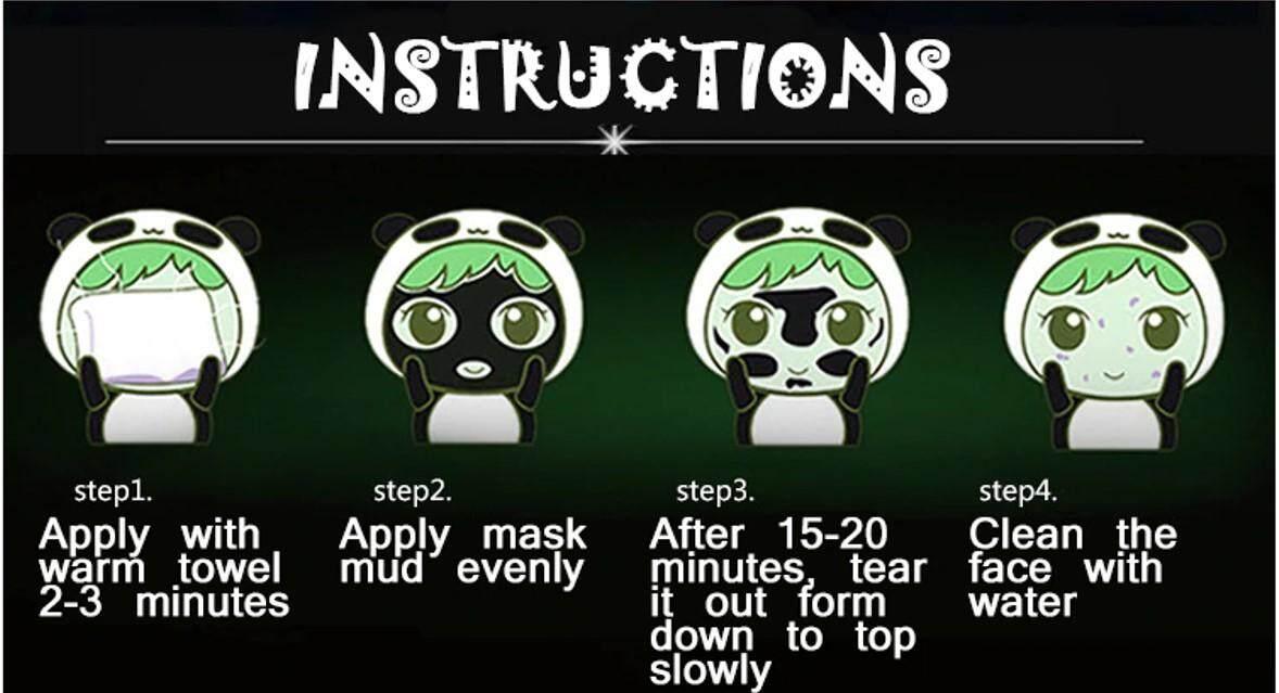 BISUTANG Bamboo Charcoal Peel Off Blackhead Remover Facial Mask 60g
