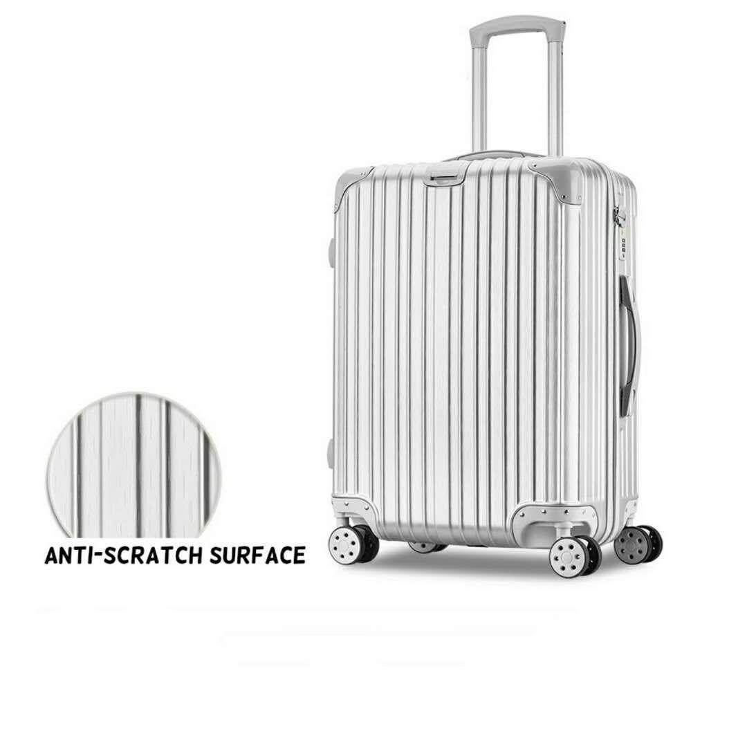 2 in 1 Luggage Bag Set Travel Bag with Wheel 20 inch & 24 inch  (Silver Color)