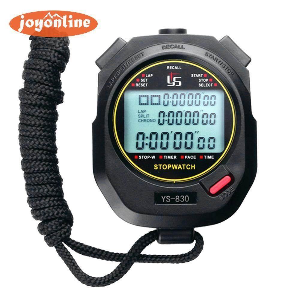 Joyonline-Handheld Digital Stopwatch Chronograph Sports Training Timer Stop Watch(neutral)- -Intl By Joyonline.