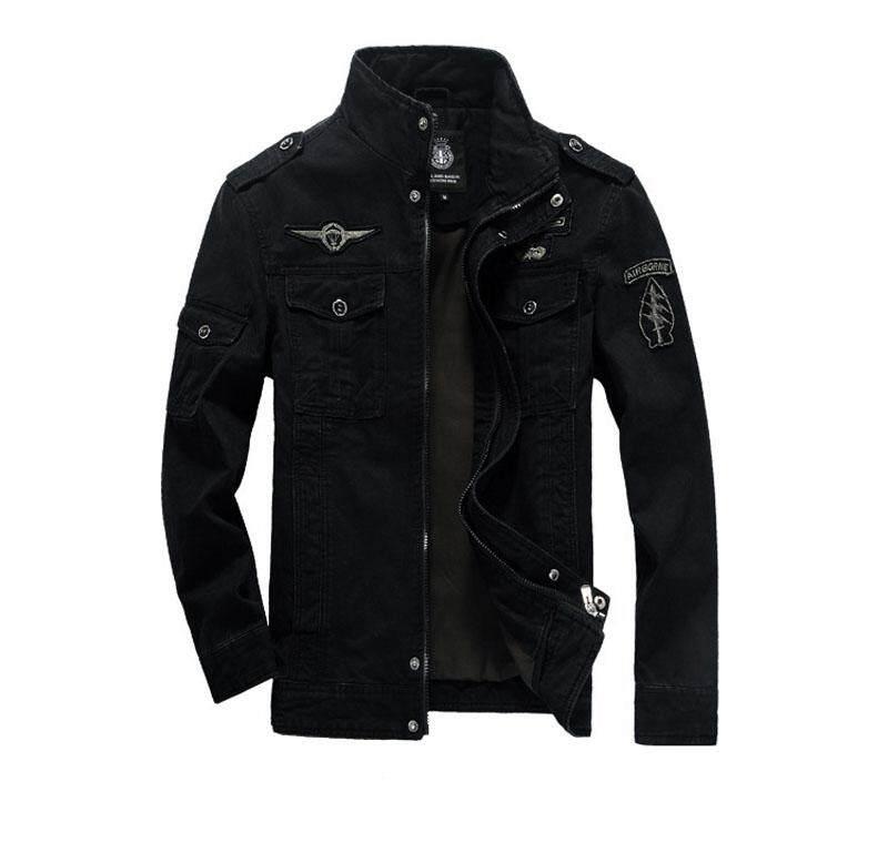 c314a9ae946ca Malaysia. Men Warm Zipper Coat Jacket Slim Fit Casual Sleeve Outwear Large  size M-6XL