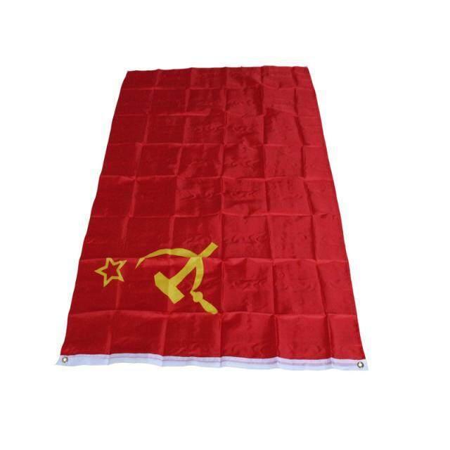 Fanestiy Merah Uni Soviet Sosialis Republik 3x5' Persegi Uni Soviet Bendera Rusia Banner