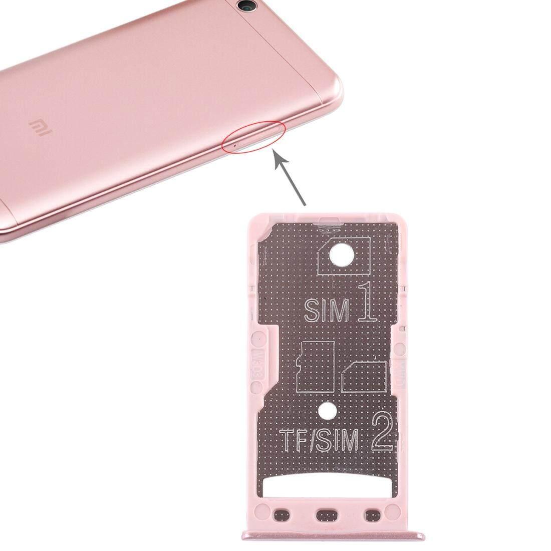 2 Kartu SIM/Micro Tray SD Card untuk Xiaomi Redmi 5A (Mawar Emas)
