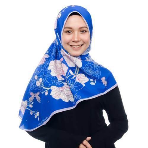 PRINTED SYAMSIAH SHAWL CADET BLUE