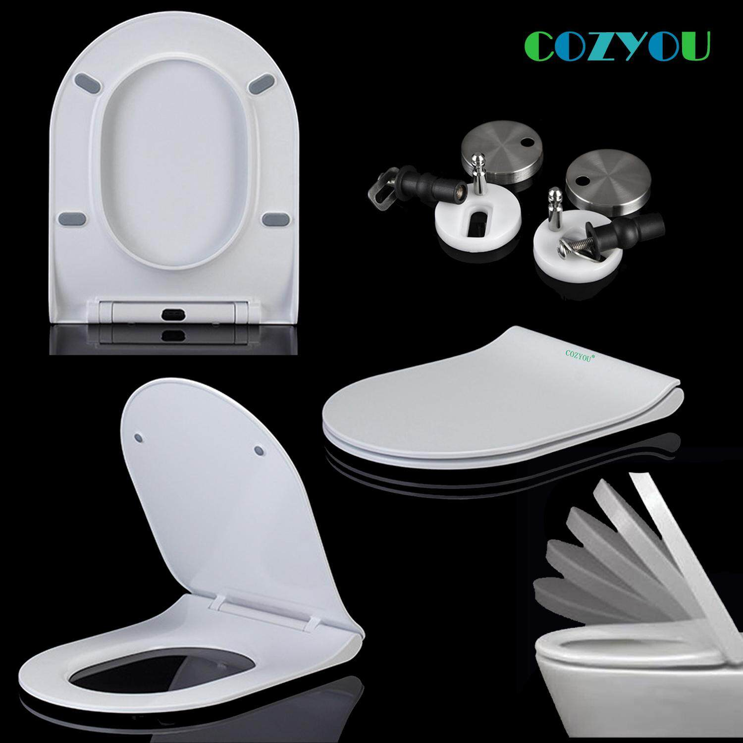 Urea formaldehyde U shape Toilet seat Ceramic texture Slowly close One Key Quick removal sofe close Toilet bowl lid GBF17261SU