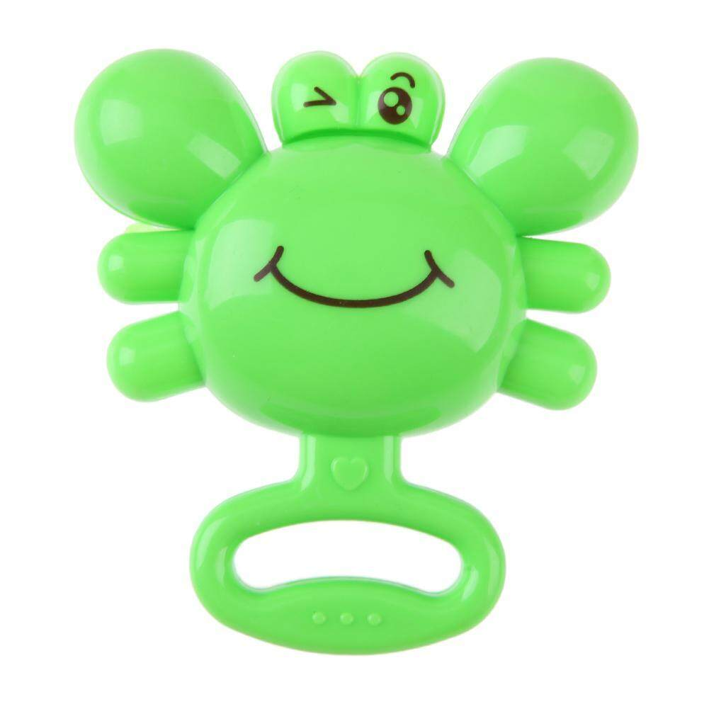 1pc Newborn Baby Infants Plastic Crab Hand Ring Bell Rattle Grasping Kids Educational Toys  -   intl