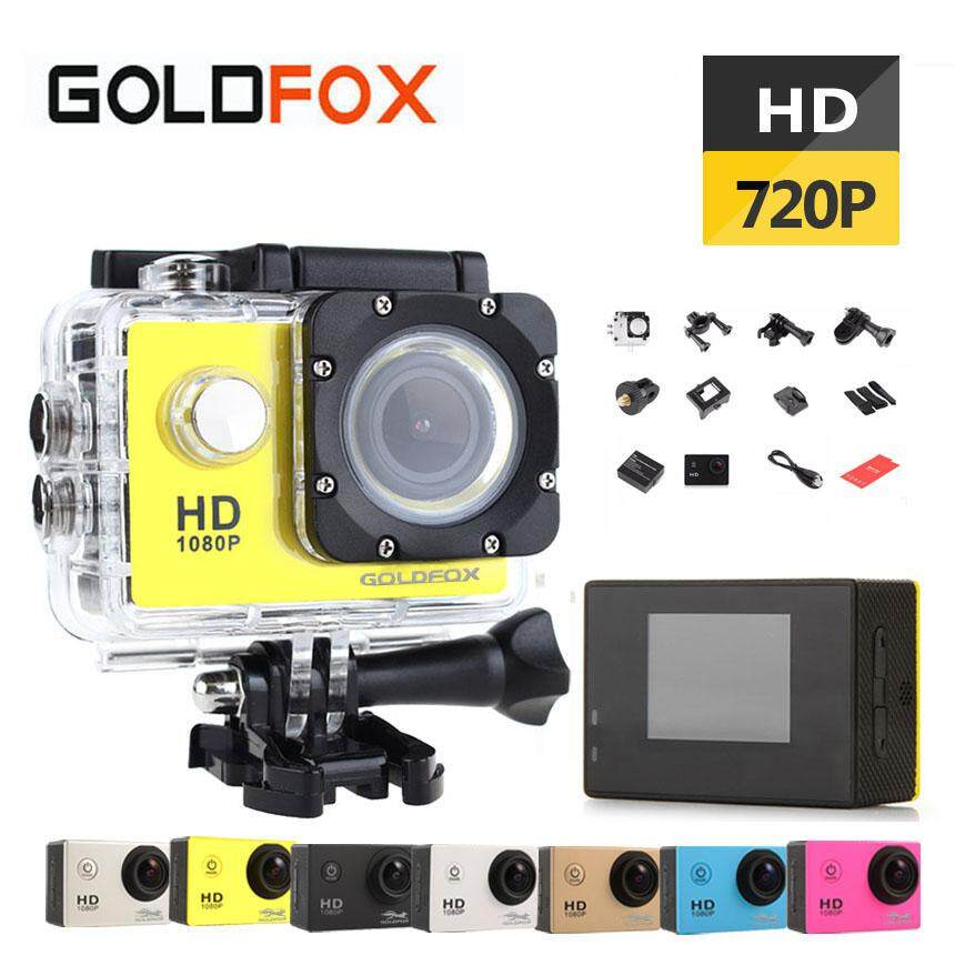 SJ4000 Mini Action Camera, Full HD 720P 30m Waterproof Sports DV Camcorder with 2 Inch
