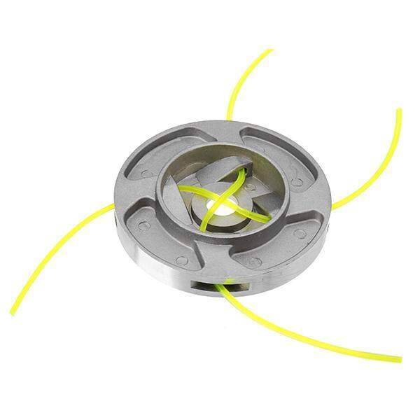 110x15mm Aluminum Grass Trimmer Head with 4 Nylon Lines for Brush Cutter Strimmer Replacement