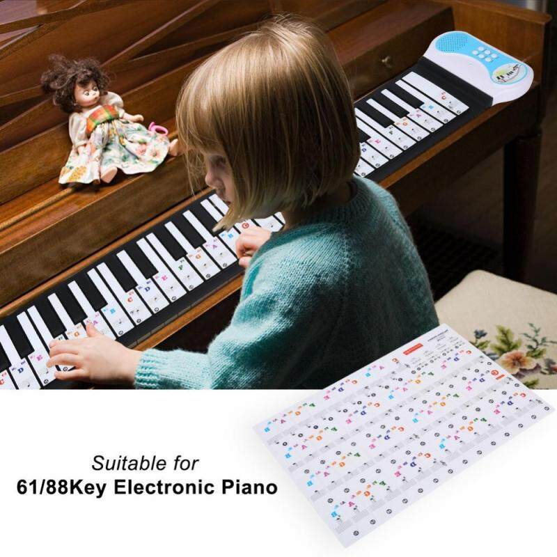 Transparent Removable Piano Key Board Sticker for 61/88 Key Electronic Pianos (Colored) Malaysia
