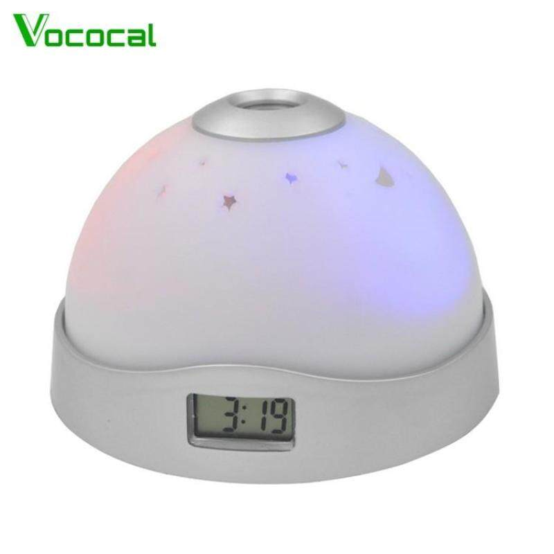 Bảng giá Colorful LCD Alarm Clock Star Sky Night Light Projector with Moon Stars Projection for Home Desktop Decorations