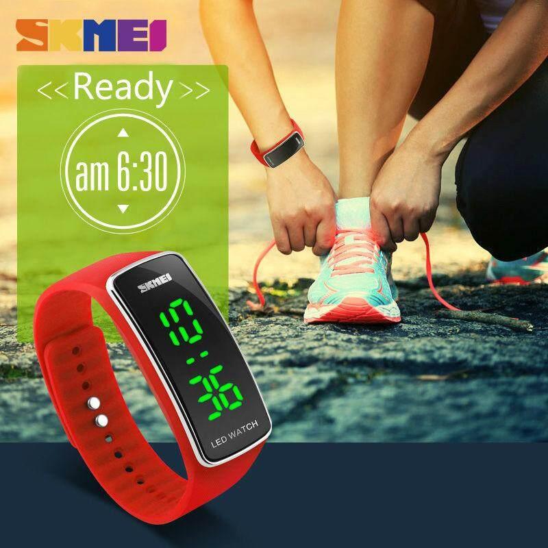 ĐỒNG HỒ Nữ Đồng hồ thể thao thời trang ĐÈN LED Dây đồng hồ Giản Dị dây đeo Silicon Hoàn Thành Lịch đồng hồ đeo tay kỹ thuật số 1119 bán chạy