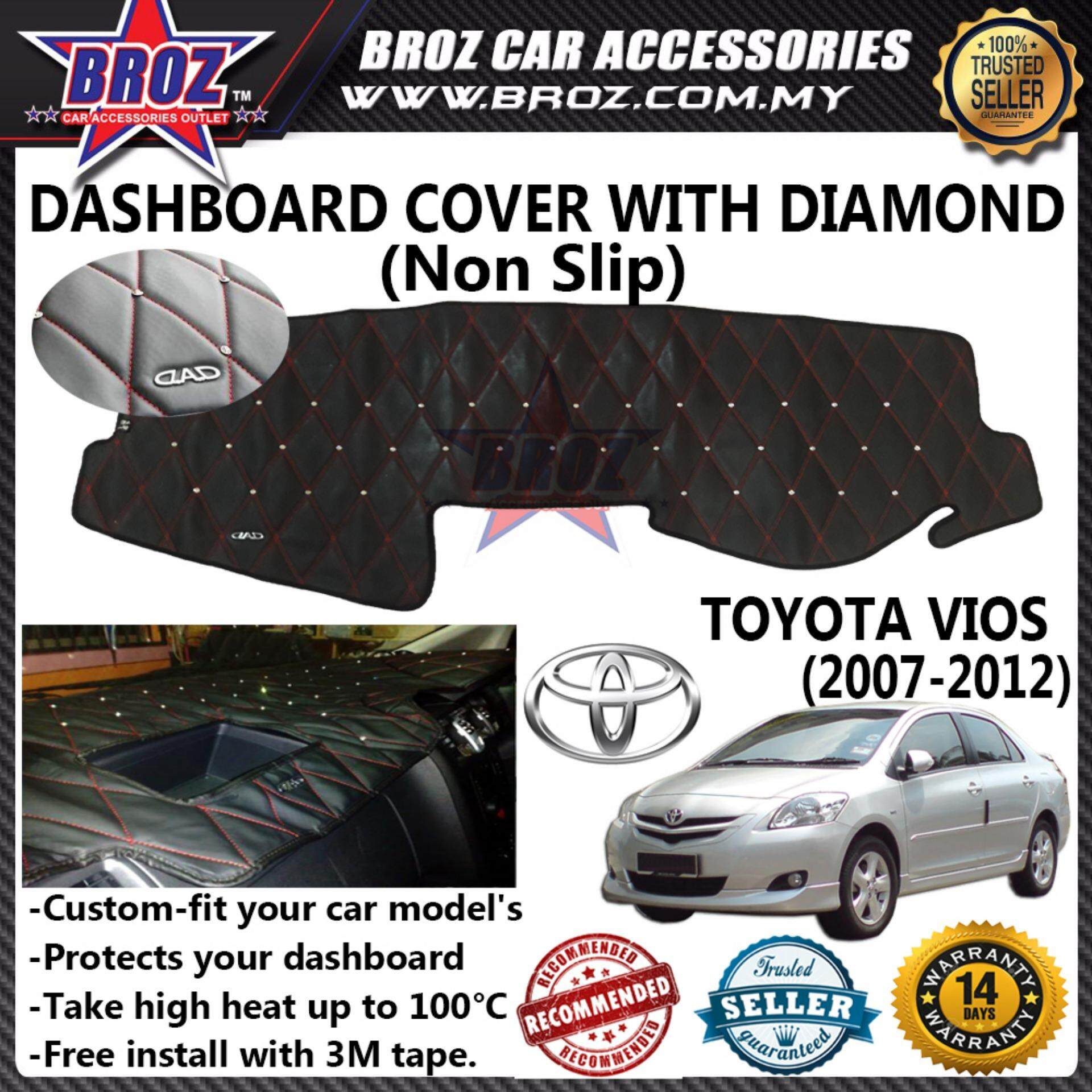 Non Slip Dashboard Cover with diamond for Toyota Vios 2007-2012