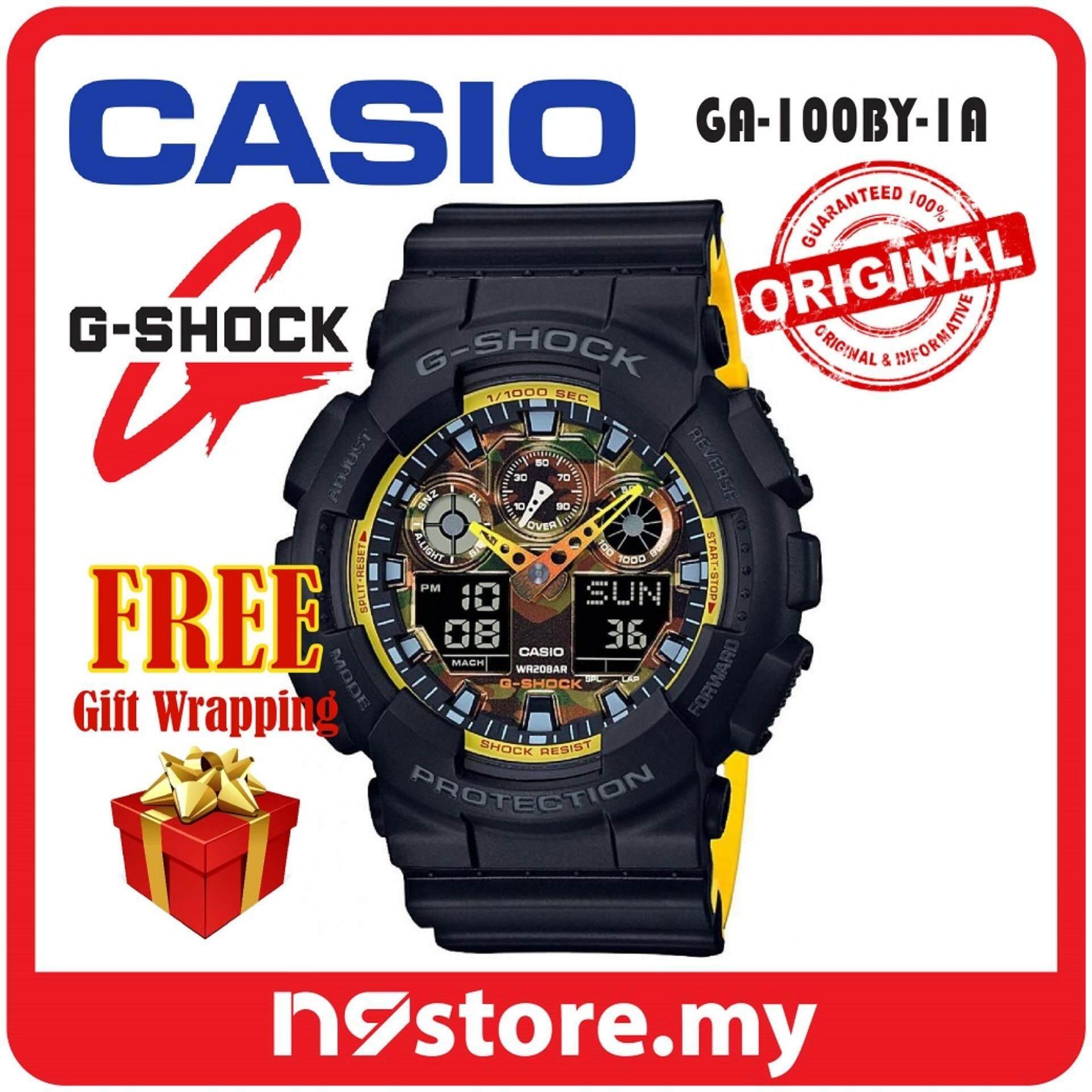 Casio G-Shock GA-100BY-1A Analog Digital Sports Watch