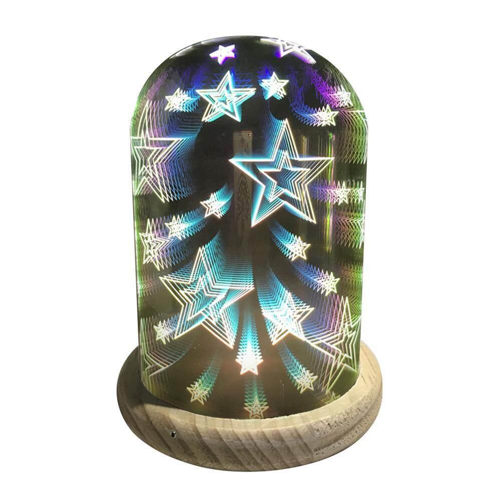 cdca604653a gaodian Pawaca 3D Decoration Light - Mercury Glass Starburst Led Table  Lamp
