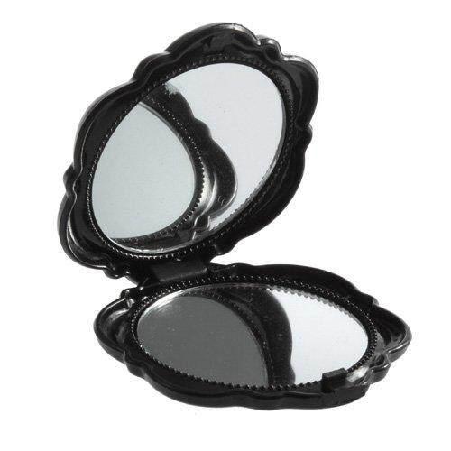 Detail Gambar 1 Pcs Indah 3D Stereo Dua Sisi Lucu Retro Bentuk Mawar Rias  Wajah Praktis Tas Kosmetik Cermin Pribadi untuk Wanita Pria Wanita Gadis  Hitam- ... fcea23c725