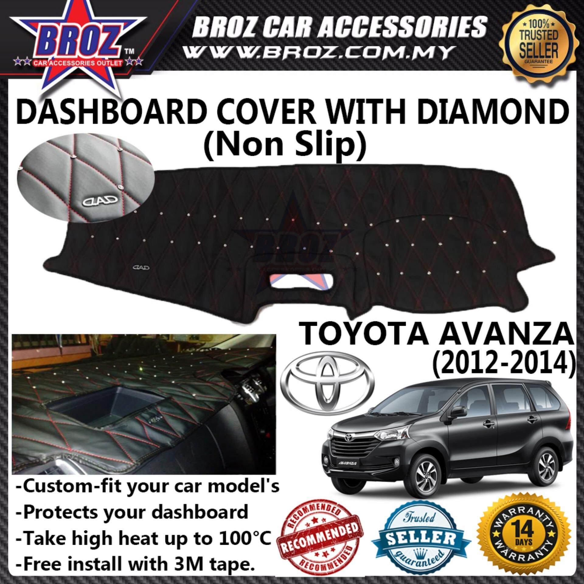 Non Slip Dashboard Cover with diamond for Toyota Avanza 2012-2014