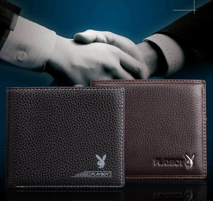 Specifications of Playboy Men Leather Wallet High Quality Playboy Geniune Men Wallet Free Gift Box (Brown)