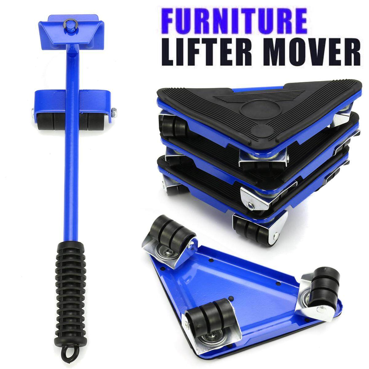 5PC Furniture Lifter Moves Triple Wheels Mover Sliders Kit Home Moving System AU
