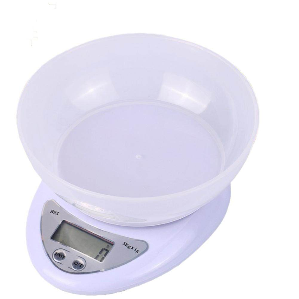 5kg/1g LCD Display Digital Kitchen Scale Diet Food Electronic Scale with Weighing Bowl