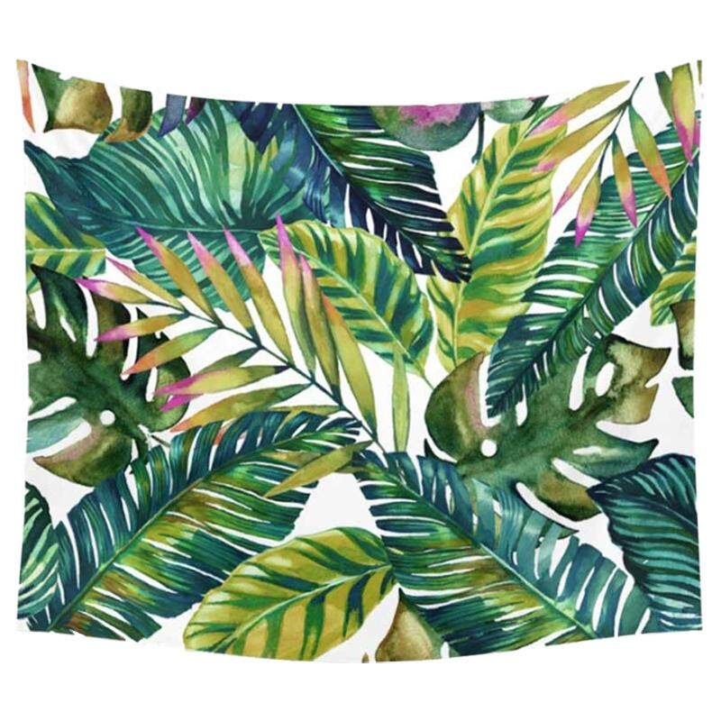 150x130cm Tapestry Home Decorative Beach Towel Fashion Sofa Wall Hanging Decor(green Leaves) - Intl By Superbuy666.
