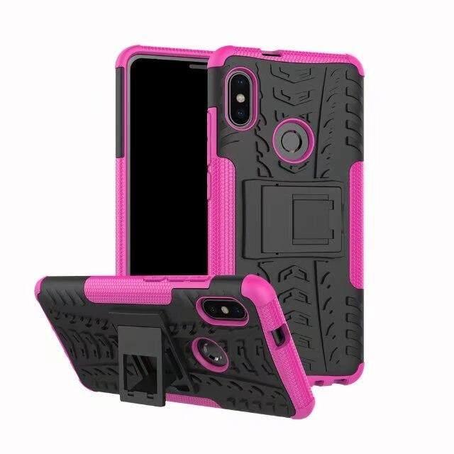 For Xiaomi Mi Max 3 Case Dual Layer Armor Silicone And Hard Shell Hybrid Kickstand Case