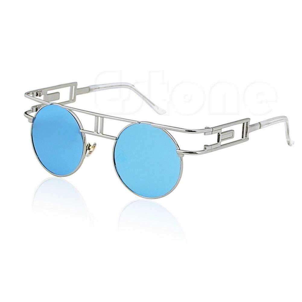 Wanita Steampunk Mata Kucing Kacamata Hitam Antik Ukuran Besar Desainer Fashion Nuansa Baru-Internasional
