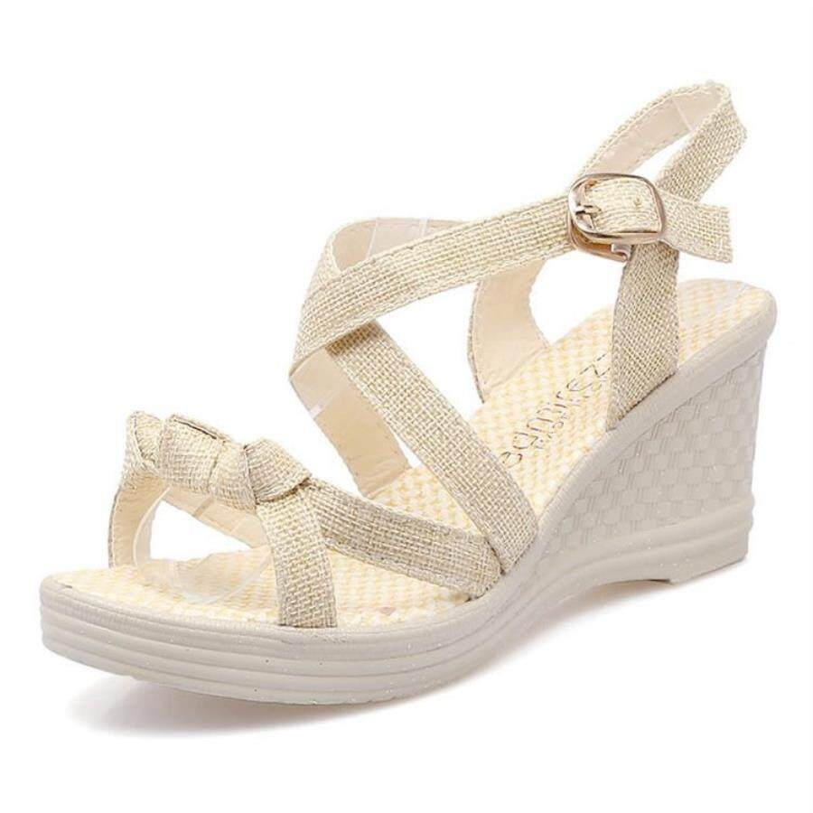 Flat Sandals For Women Sale Summer Online Brands Sendal Wanita Wedges Suede Imoet Womens New High Heeled Platform Waterproof Open Toe Muffins Large Kasut