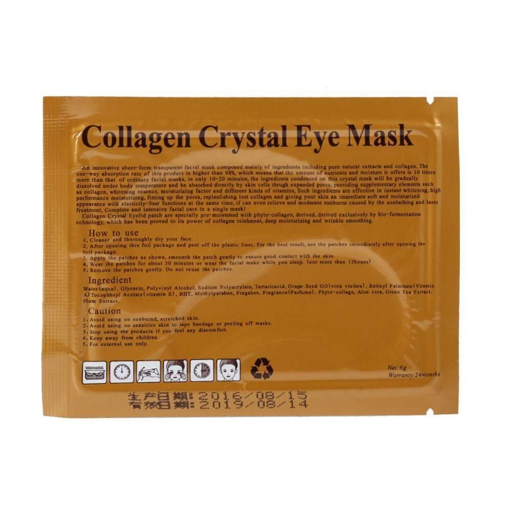 Kelebihan 10pcs Wowen Collagen Eye Mask Anti Wrinkle Ageing Crystal Masker Mata Colagen Cystal Moisturiser Patch Pad New Intl