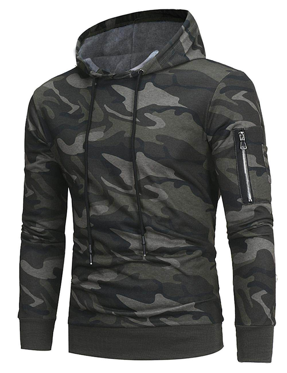 Big Sale Men Fashion Camouflage Hoodies Long Sleeve Casual Sweatshirts Slim Pullover By Four Season Big Sale.
