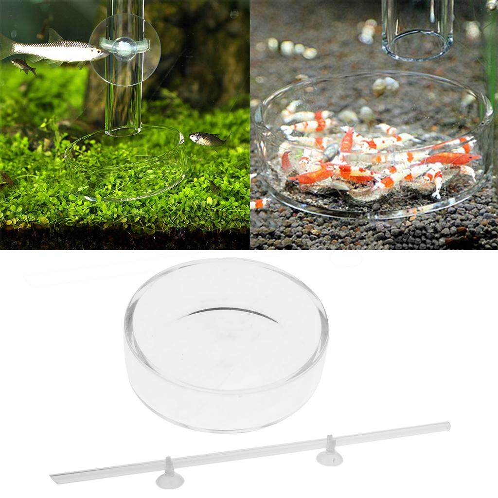 Loviver 2Pcs Shrimp Feeding Tube Tray Food Feeder Dish Pipe Holder with Suction Cups