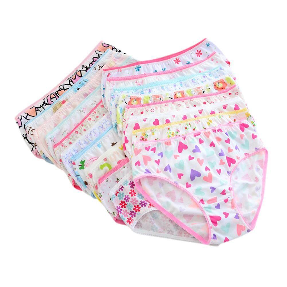 464db1039bd SunnyShop 12PCS Set Children Girls Underpants Cotton Briefs Cute Cartoon Underwear  Panties