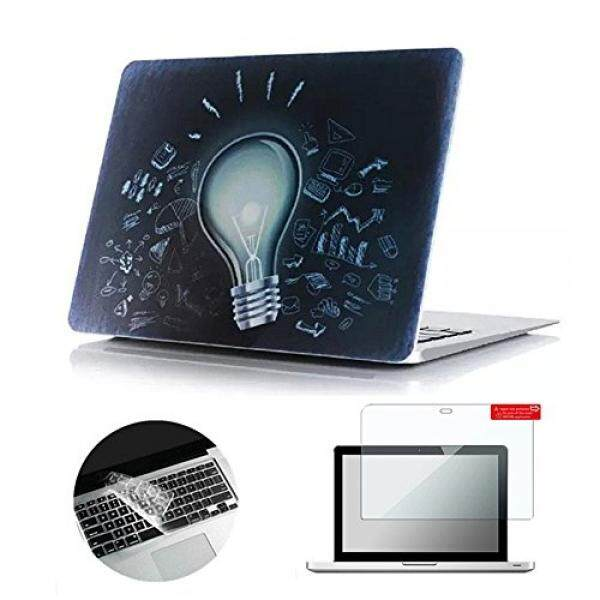 Laptop Folio Cases Se7enline 3 in 1 Ultra Slim Light Weight Matte Hard Case Cover for Macbook Pro 13 inch 13 A1278 with Transparent Silicone Keyboard Skin and Clear LCD Screen Protector, Magical lamp bulb Pattern - intl