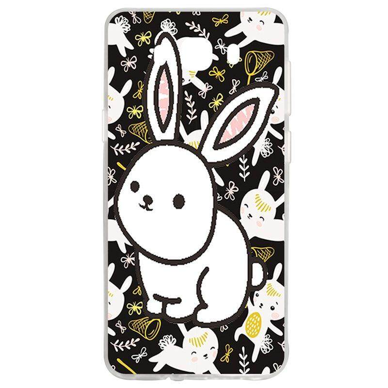 White Rabbit TPU Soft Silicon Phone Case Cover For Samsung Galaxy J7 2016 J710