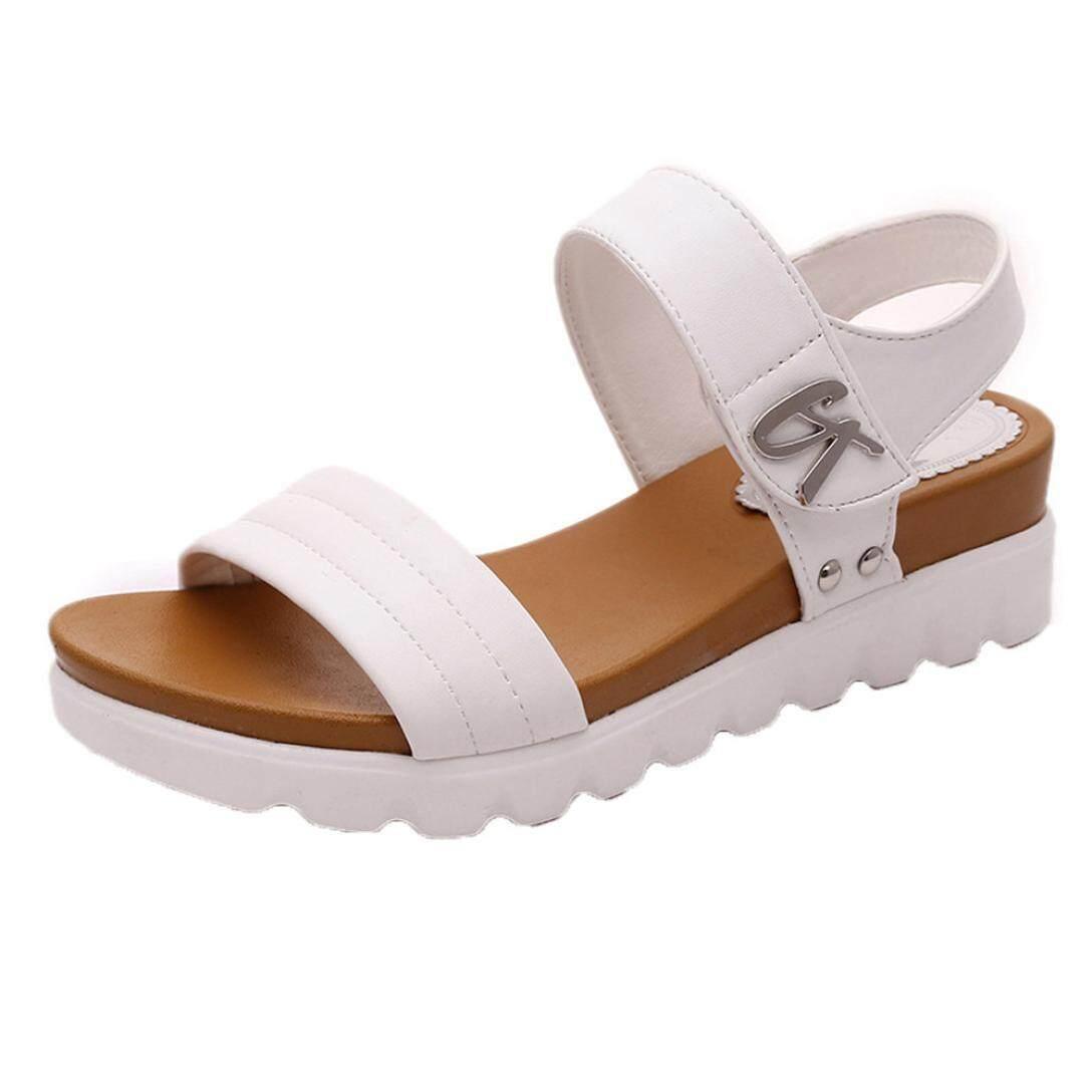 12bed47d876f (Audestore) Summer Sandals Women Aged Flat Fashion Sandals Comfortable  Ladies Shoes